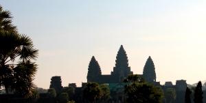 3 Visible (of 5) Pillars of Angkor Wat