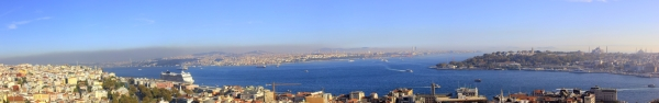 The Bosphorus Straits (from the top of Galata Tower)