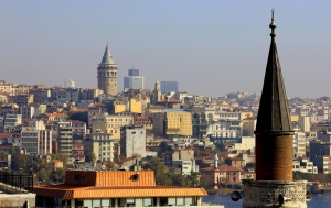 Galata Tower and a View of the 2nd Oldest Section of the City