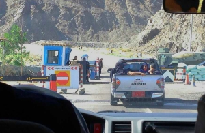 One of the Many Checkpoints between Taba and Cairo