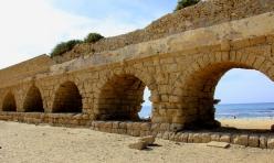 Roman Aqueduct Along the Mediterranean