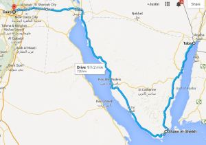 Our Desert-Crossing Route