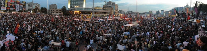 Protesters Gather in Taksim Square - Istanbul