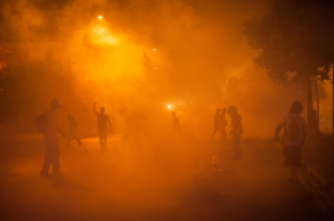 Tear Gas Fills the Air in Ankara