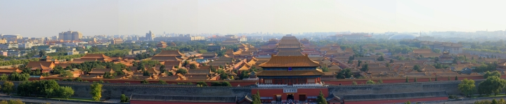 Panorama of the Forbidden City (from atop Jingshan Park Monument)