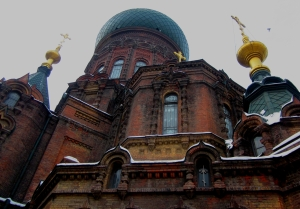 The Russian Orthodox Church of St. Sophia is Located in the Center of Harbin, China