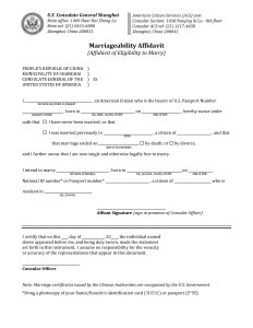 A Blank Affidavit of Marriageability