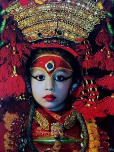 The Current Kumari - Matina Shakya, who began her reign in 2008.