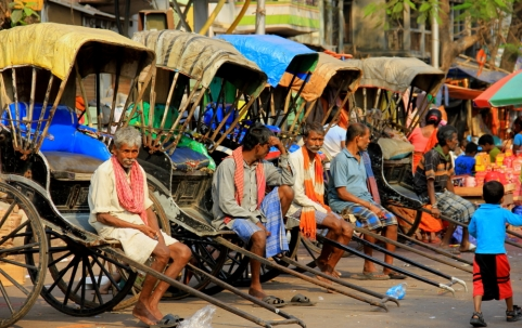 Rickshaw Drivers awaiting customers