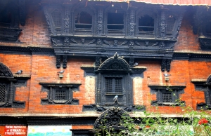 The Kumari Che Courtyard (the top, middle window is for her public 'appearances')