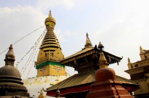 Swayambunath Stupa and surrounding temples...