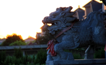 One of the Orient's twin Lions...