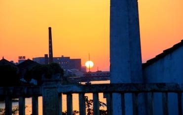 Smokestacks at Sunset