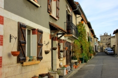 Medieval street in Aurignac