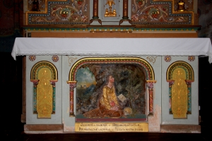 Mary Magdalene's Altar where she Kneels before a Cross