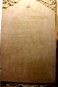 The Actual Tombstone with the Cipher