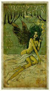 The Green Fairy by Henri Marie Raymond de Toulouse-Lautrec-Monfa