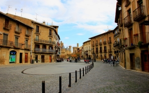 Olite town square, where Bullfights and Jousts used to be held
