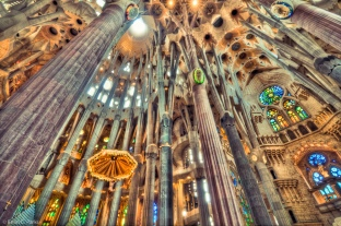 Interior of La Sagrada Familia (not my photo)