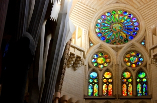 Interior of La Sagrada Familia (my photo)