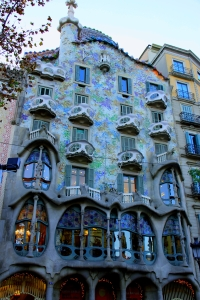 Casa Batllo, by Antoni Gaudi in Barcelona, Spain