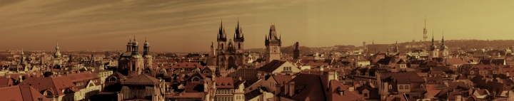 The Prague Skyline Panorama from atop the Astronomy Tower