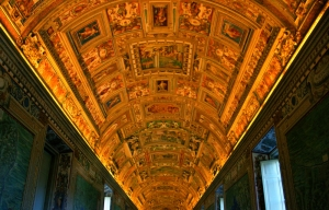 Ceiling of the Vatican Museum (Not the Sistine Chapel)