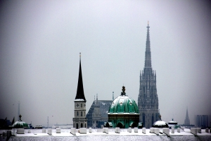 Vienna & St. Stephen's Church (in the distance)