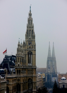 Vienna's City Hall (aka the Rathaus)... Rat House, need I say more?