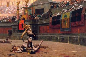 Depiction of a Gladiator Match