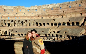 Jen and I inside the Colosseum