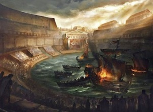 A Sea Battle in the Colosseum
