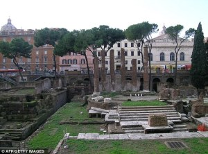 Temple Complex Unearthed in 2012 (the Bottom of the Stairs is the Exact Spot where Caesar was Murdered)
