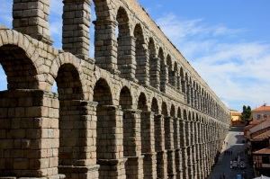 The Roman Aqueduct at Segovia