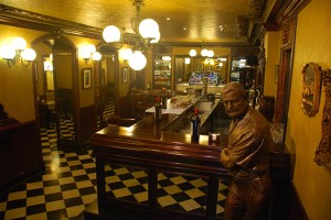 Cafe Iruna - and their memorialized Hemingway in Bronze