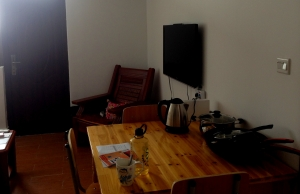 Our Chinese Apartment with the Kettle taking Center Stage!