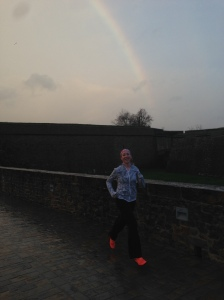 Jen looking for the end of the Rainbow...