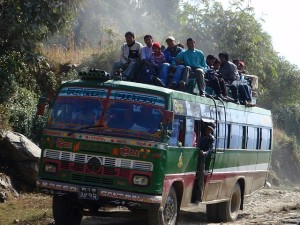 Nepalese Tourist Bus!