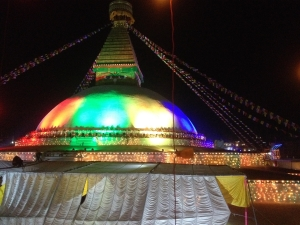 The Boudhanath Stupa on Thanksgiving Night...