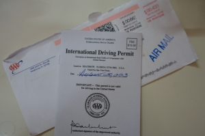 A AAA International Driver's Permit