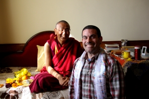 Khen Rinpoche and I after the Ceremony...